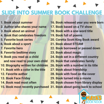 Slide Into Summer Reading Challenge